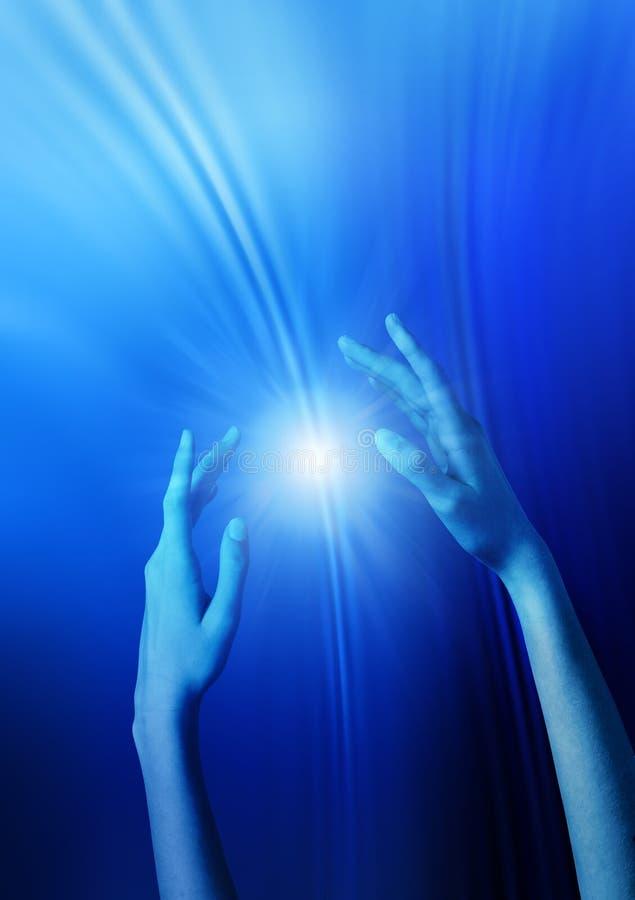 ręki target1736_1_ holistyczną sprawy duchowe fotografia stock