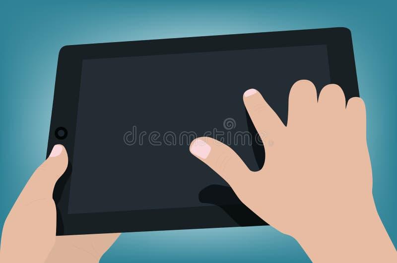 Ręki trzyma mobilnego ochraniacza ilustracja wektor