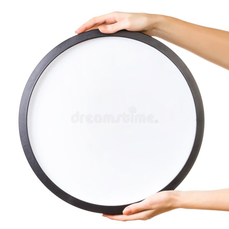 Ręki trzyma sztandar obrazy stock