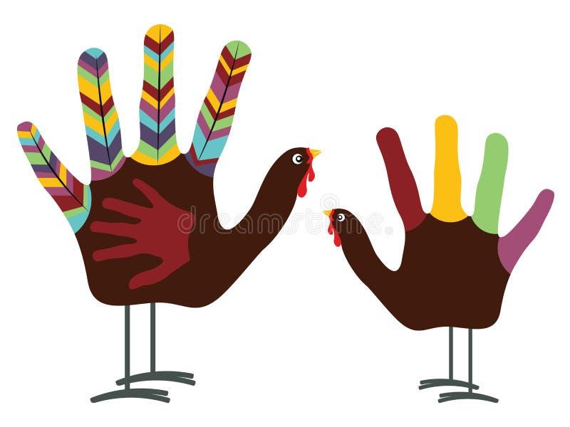 Ręki Turcja ptak ilustracji