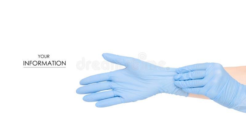 Ręki w medycznym rękawiczka wzorze zdjęcia stock