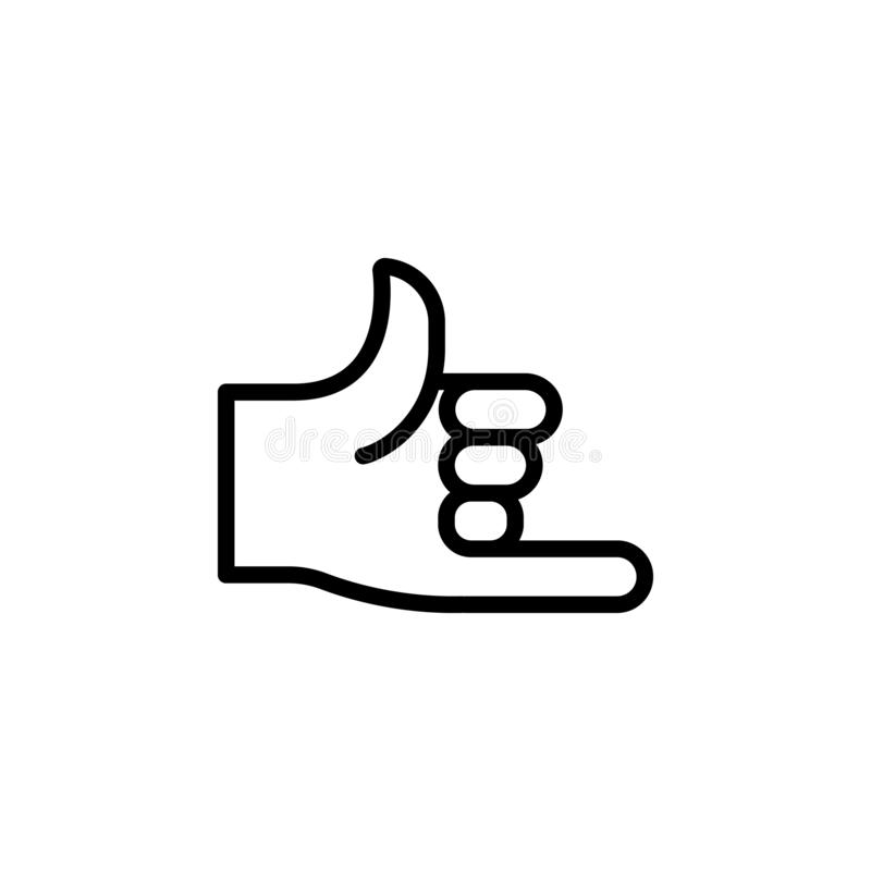 Ręki wezwania gesta konturu ikona Element ręka gesta ilustracji ikona znaki, symbole mogą używać dla sieci, logo, mobilny app, ilustracji