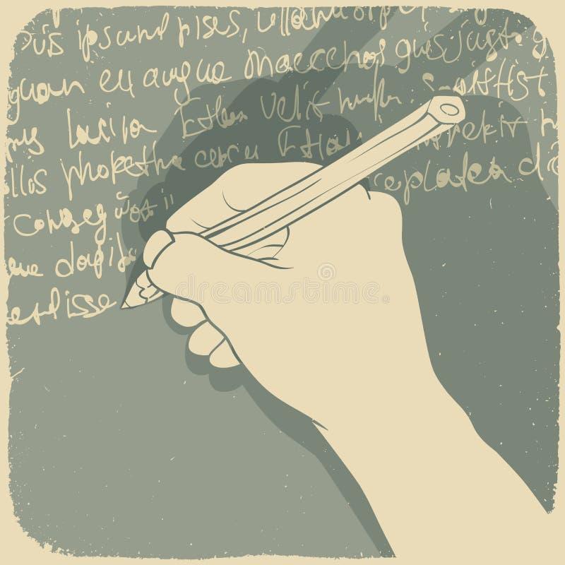 ręki writing ilustracja wektor