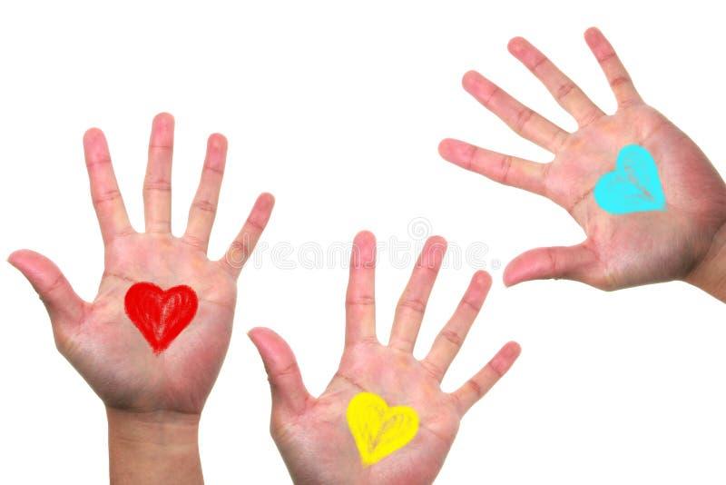Ręki z miłością obrazy stock
