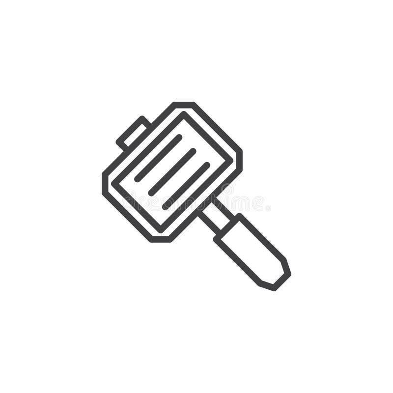 Rękojeść grilla konturu ikona royalty ilustracja