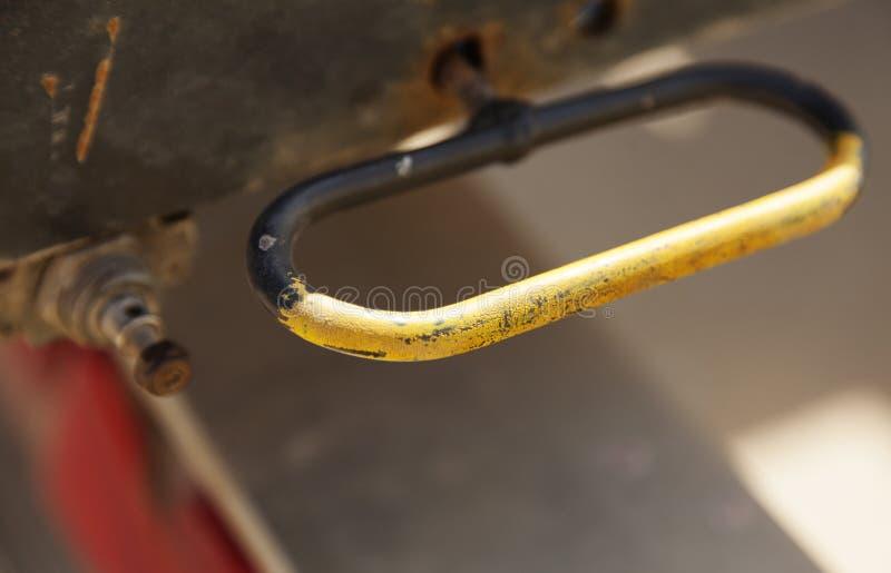 Rękojeści należy ciężarowa przyczepa w Umea fotografia stock