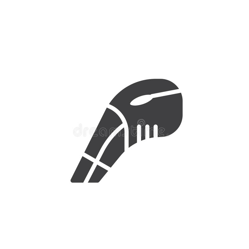 Rękojeści próżniowego cleaner wektoru ikona ilustracja wektor