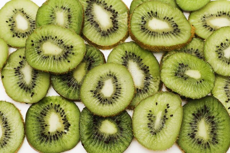 Rżnięta kiwi owoc Zakończenia tła tekstura obrazy stock