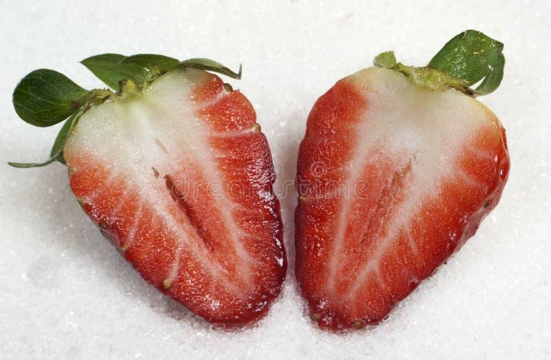 rżnięte truskawki obraz stock