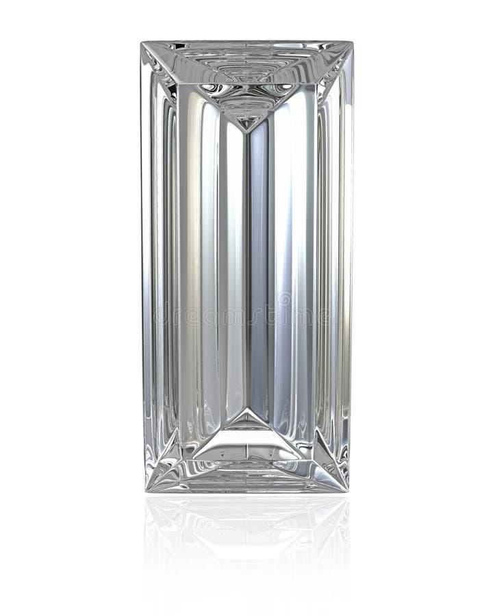 Rżnięty Baguette diament royalty ilustracja