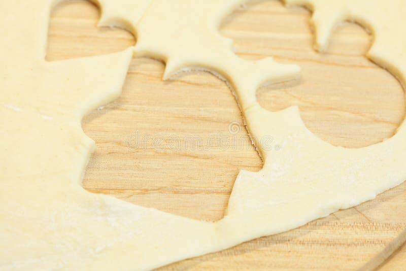 rżnięty ciasta serca domu bałwan zdjęcie royalty free