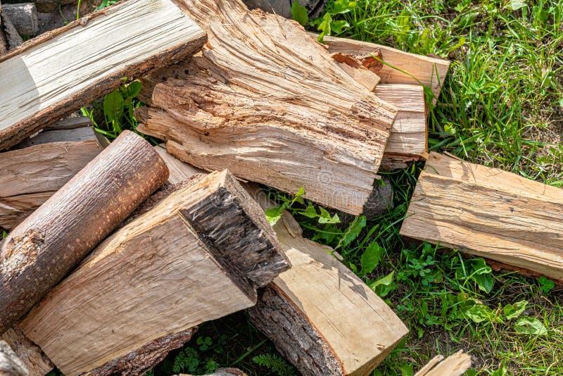 Rżnięty firewoodon łąka zdjęcie royalty free