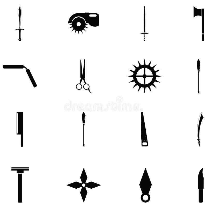 Rżnięty ikona set ilustracji