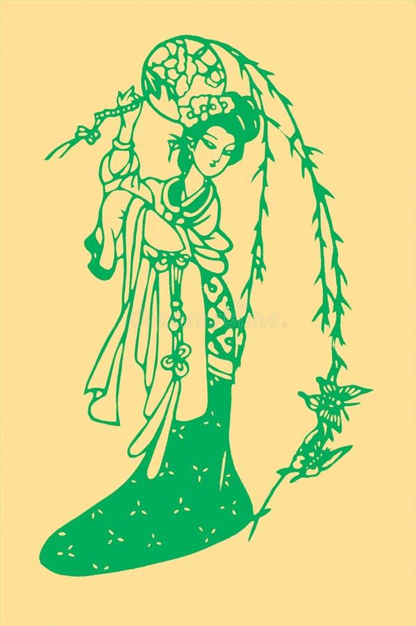rżnięty papierowy tradycyjny zdjęcie royalty free