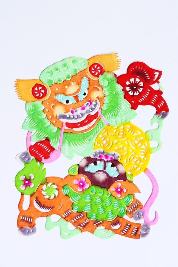 rżnięty tana lwa papier ilustracji