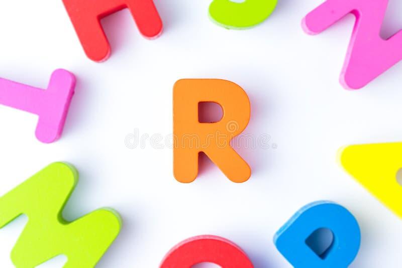 R信件用英语 免版税库存图片