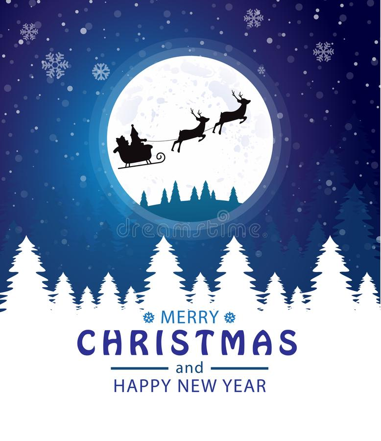 r Άγιος Βασίλης στο φεγγάρι r διανυσματική απεικόνιση