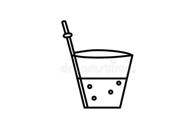 r Απεικόνιση εικονιδίων ποτών Σύγχρονη απομονωμένη εικόνα, γυαλί Χυμός στα πιάτα Ρευστό σύμβολο διανυσματική απεικόνιση