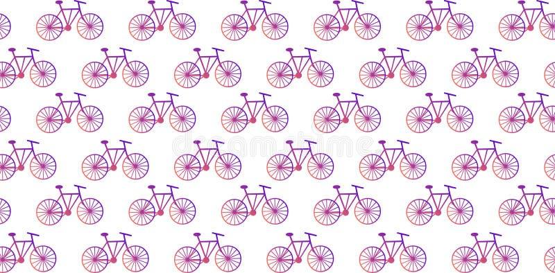 r Αφηρημένα ποδήλατα με μια πορφυρός-πορτοκαλιά κλίση σε ένα άσπρο υπόβαθρο απεικόνιση αποθεμάτων