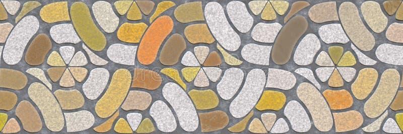 r Αφηρημένο μωσαϊκών backgro τοίχων αρχιτεκτονικής κεραμικό διανυσματική απεικόνιση