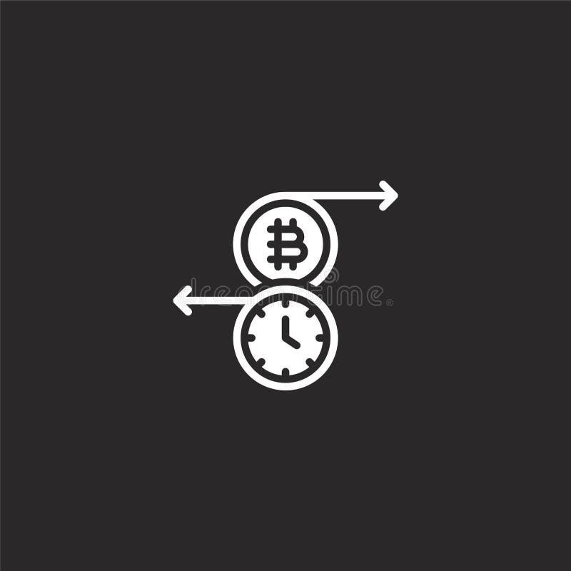 r Γεμισμένο εικονίδιο συναλλαγής για το σχέδιο ιστοχώρου και κινητός, app ανάπτυξη εικονίδιο συναλλαγής από γεμισμένος blockchain διανυσματική απεικόνιση