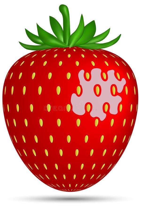 r Διανυσματική απεικόνιση, φράουλα διανυσματική απεικόνιση