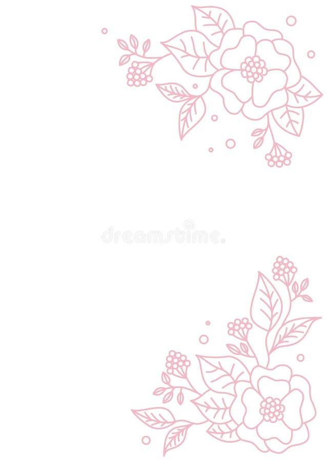 r Διανυσματική floral κάρτα σχεδίου Αφηρημένο σχέδιο λουλουδιών r Διακοσμητικός floral στοιχείων διανυσματική απεικόνιση
