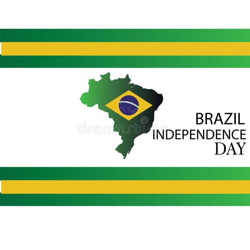 r Η βραζιλιάνα ημέρα της ανεξαρτησίας εθνικής εορτής της Βραζιλίας γιορτάζεται στις 7 Σεπτεμβρίου γραφικό σχέδιο μέσα απεικόνιση αποθεμάτων