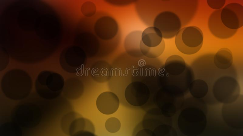r Μαύρο σκηνικό επίδρασης κύκλων bokeh διανυσματική απεικόνιση