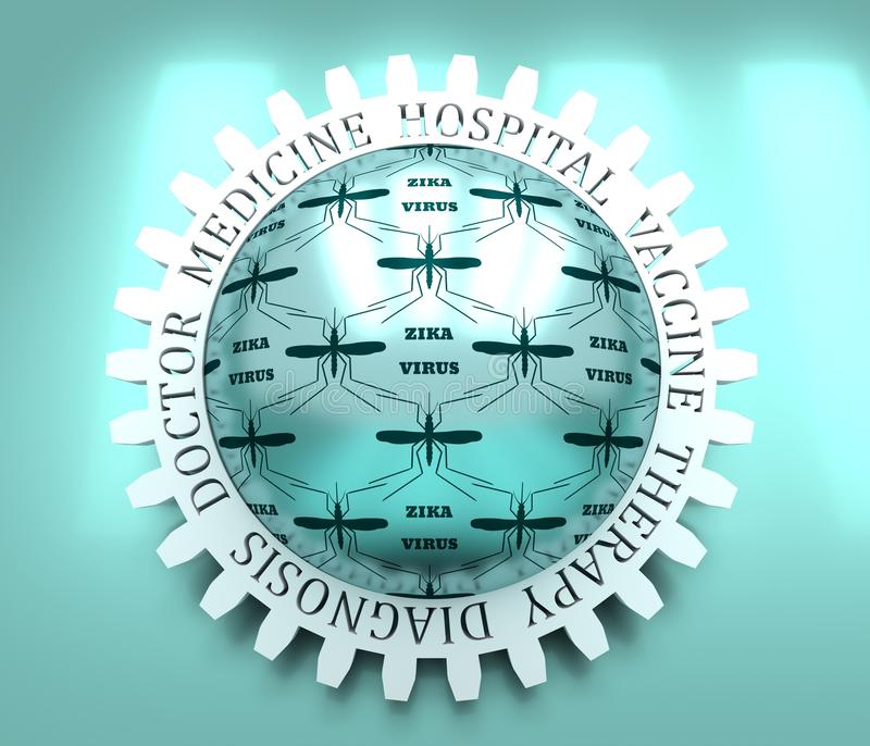 r Σκιαγραφία κουνουπιών Ιός Zika στοκ εικόνες με δικαίωμα ελεύθερης χρήσης