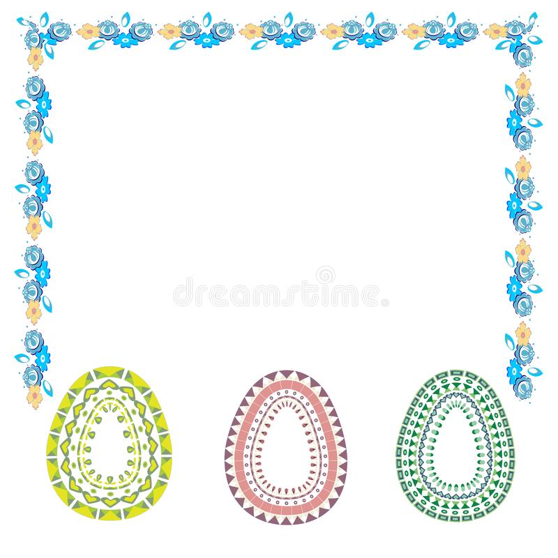 r Σύνολο αυγών Πάσχας με τη διαφορετική σύσταση σε ένα άσπρο υπόβαθρο o ελεύθερη απεικόνιση δικαιώματος