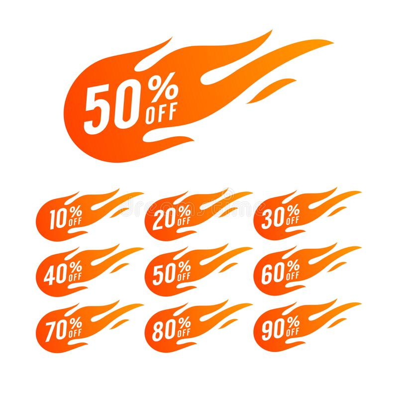 r Τιμή προσφοράς έκπτωσης απεικόνιση αποθεμάτων