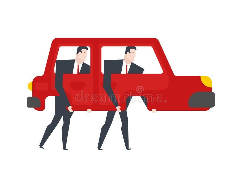 r Автомобиль идет нога автоматический с ногами бесплатная иллюстрация