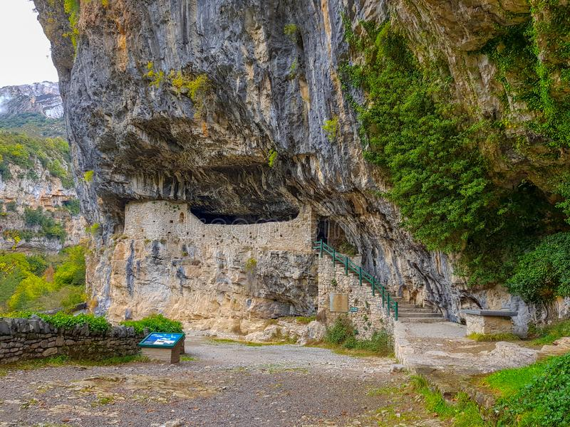 r Арагон Национальный парк Ordesa и Monte Perdido Каньон Anisclo стоковая фотография rf