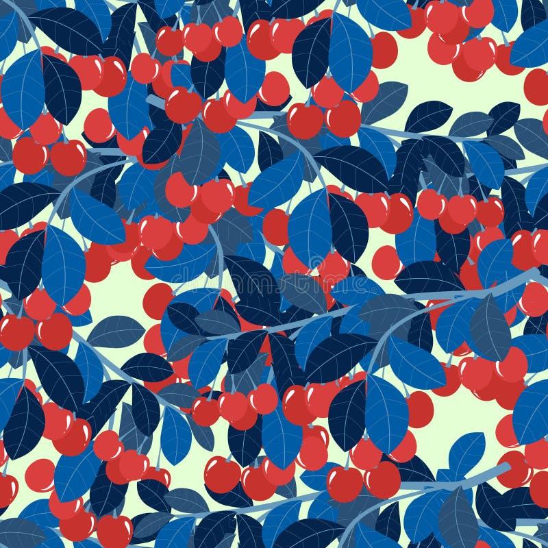 r Ветвь иллюстрации вектора сладкой вишни плоско иллюстрация штока