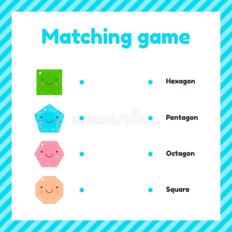 r геометрические диаграммы для детей Соответствуя игра бесплатная иллюстрация