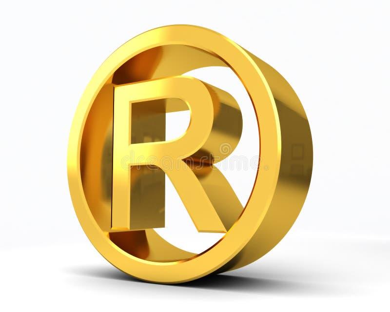 R зарегистрированный авторским правом иллюстрация вектора