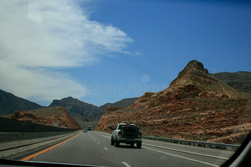 r Красные горы Невада или завод Юты и пустыни стоковые изображения rf
