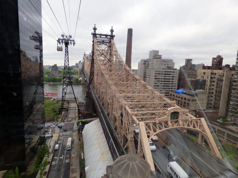 r Нью-Йорк Мост Queensboro стоковые фото