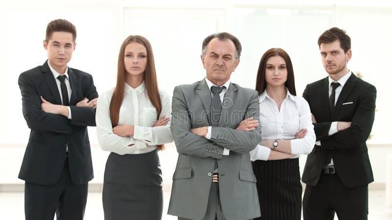 r портрет уверенной команды дела на предпосылке офиса стоковая фотография
