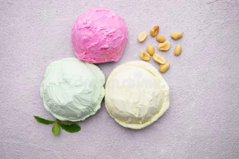 r Различный набор ветроуловителей мороженого стоковая фотография