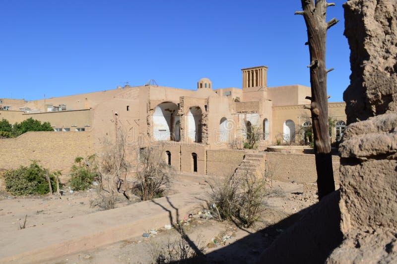 r Район двора в городе Yazd стоковое изображение rf