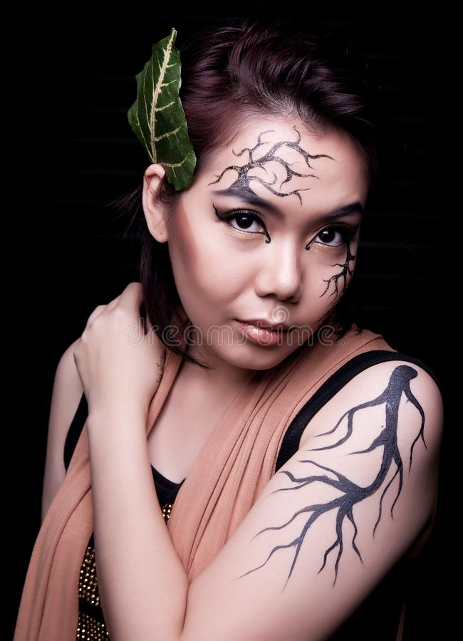 r Творческий макияж стоковое фото