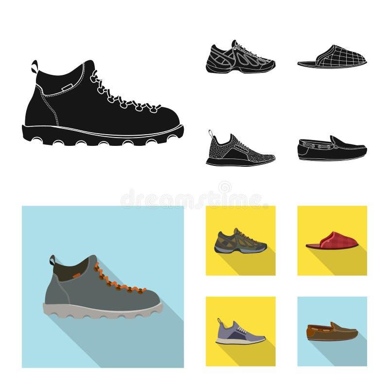r Установите значка вектора ботинка и ноги для запаса бесплатная иллюстрация