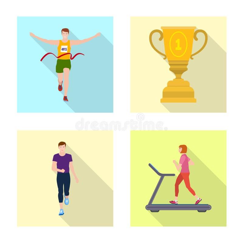 r Установите иллюстрации вектора запаса спорта и фитнеса иллюстрация штока