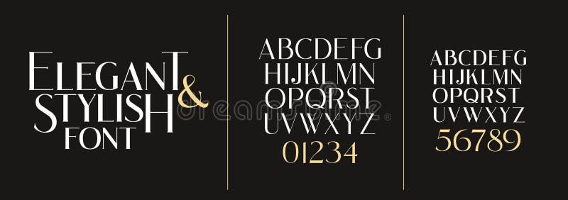 r Шрифт стильного элегантного вектора составной установите писем английский иллюстрация штока