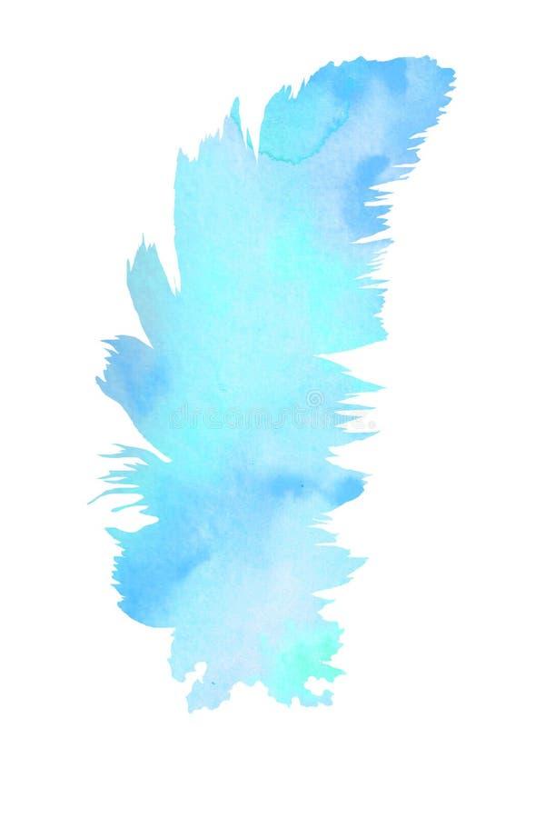 r 一根软的羽毛填装了水彩背景 向量例证