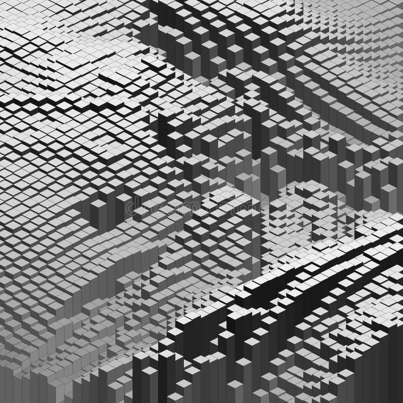 r 人工智能,infographic的密码学,量子计算概念 技术传染媒介 向量例证