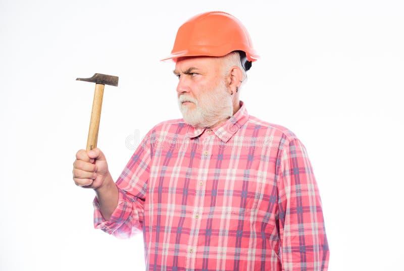 r 人建造者用途锤子工具 盔甲的专业安装工 建筑师修理和固定 工程师工作者 库存图片