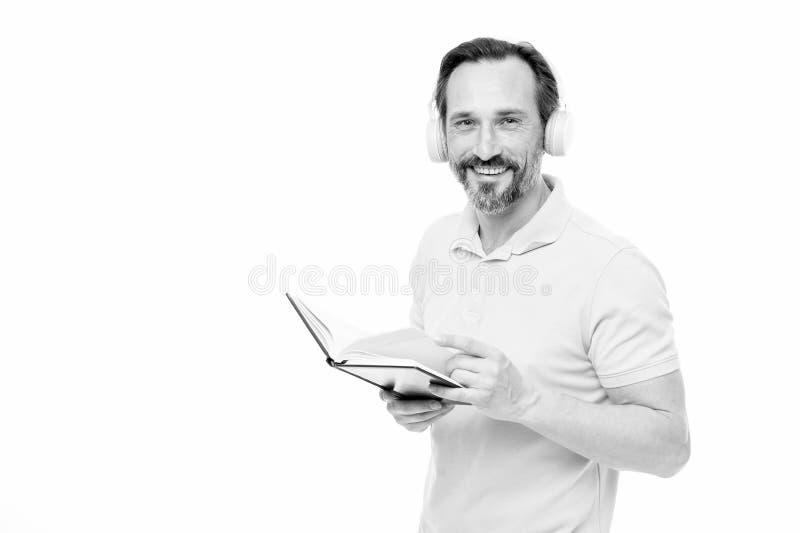 r 人成熟有胡子的人听的网上课程 获得更多信息 r ?? 库存照片
